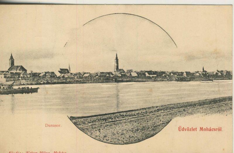Dunasor v. 1904  Teil-Stadt-Ansicht mit der Donau  (53201)