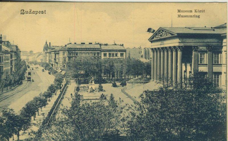 Budapest v. 1908  Museumring  (53210)