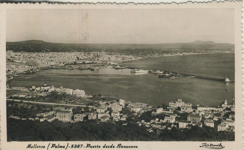 Palma de Mallorca v. 1965  Puerto desde Bonanova  (53899-14)