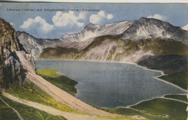 Lünersee v. 1922  Lünersee mit Douglashütte  (53989)