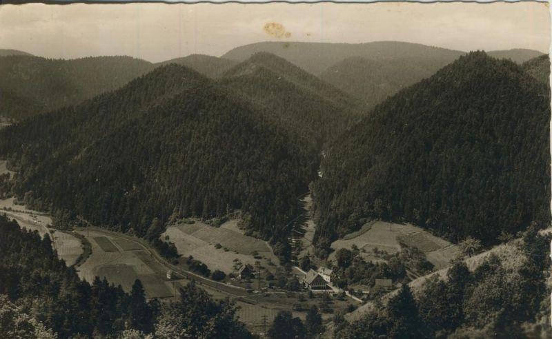 Schiltach v. 1960  Talansicht ins Reichenbächle  (53995)