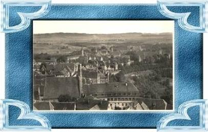 Rothenburg v.1929 Teil-Stadt-Ansicht (8287)