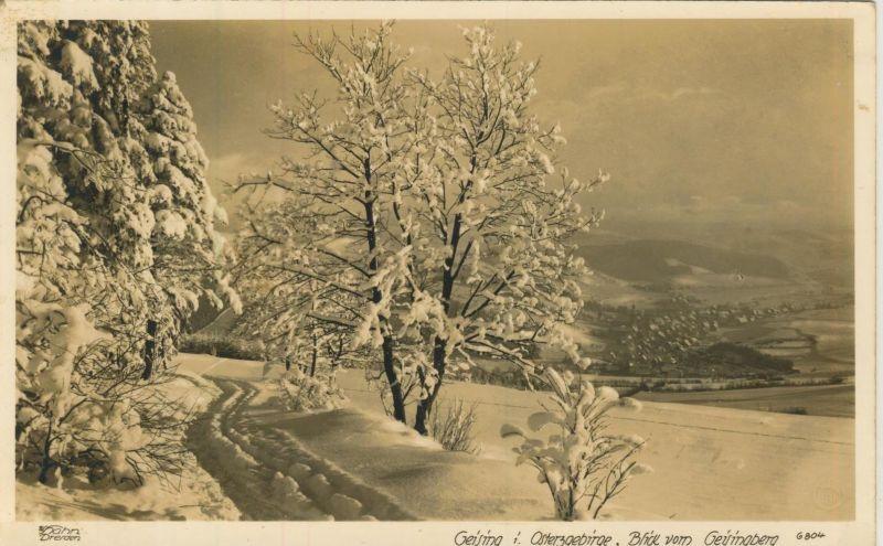 Geising v. 1932  Dorfansicht im Winter (53999-21)