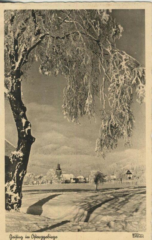 Geising v. 1932  Dorfansicht im Winter (53999-22)