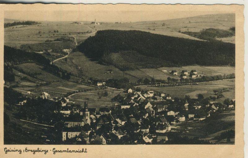 Geising v. 1932  Dorfansicht mit Siedlung  (53999-24)
