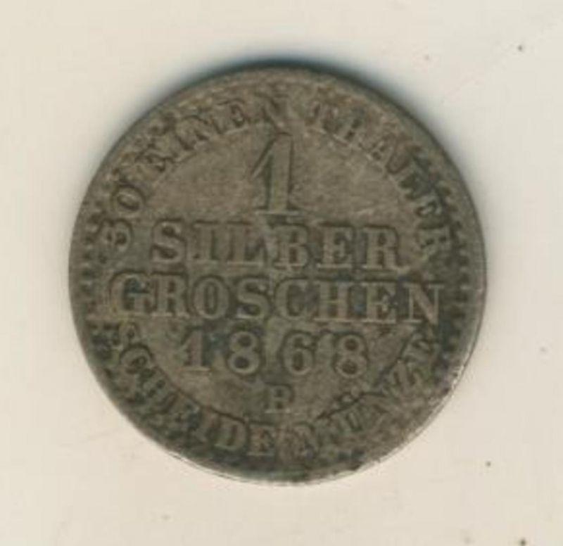 Alt-Deutschland -- 1 Silber Groschen von 1868  (54018)