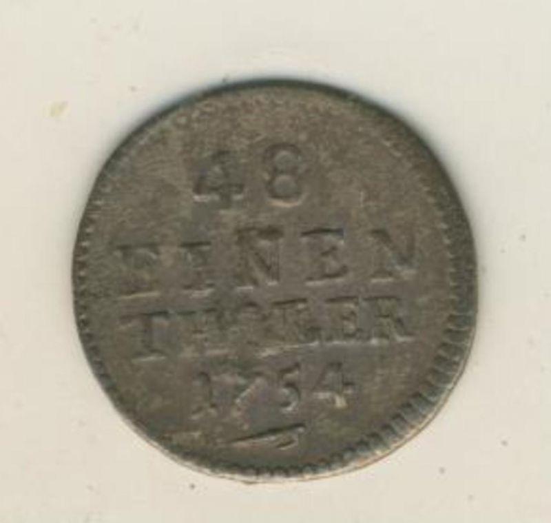 Alt-Deutschland -- 48 Einen Thaler von 1754  (54019)