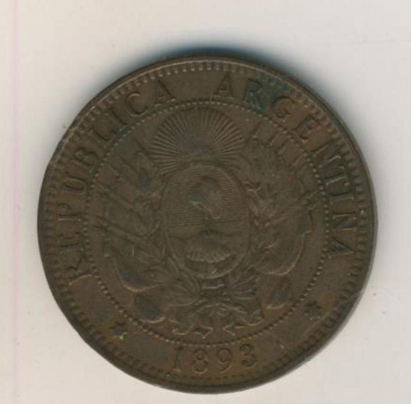 Argentinien v. 1893  Dos Centavos  (54021)