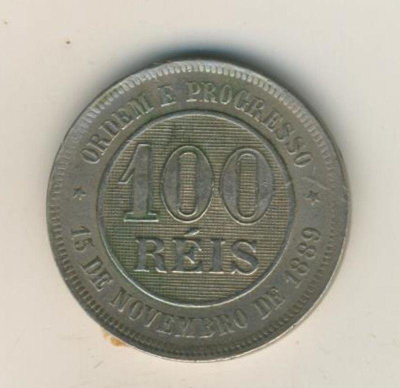Brasilien v. 1898  100 Reis  (54022)