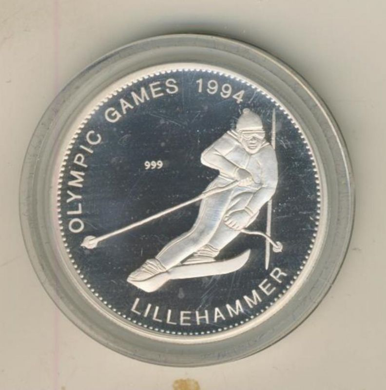 Zambia 1994,Olympische Spiele,,20 Kwacha,Silber 999,Kapsel  (54025)