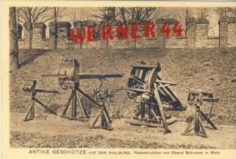 Saalburg v.1922 Antike Geschütze (7300)