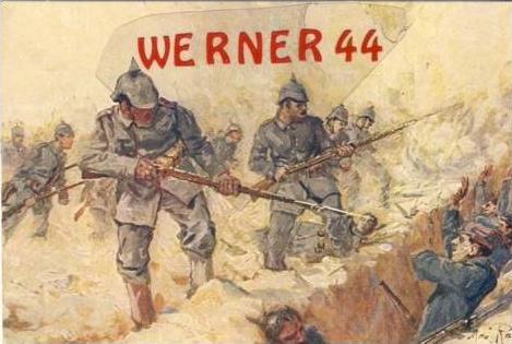 Eroberung eines frazösischen Schützengraben.(7319)