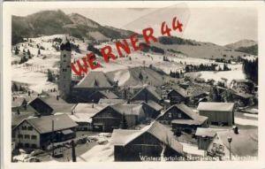 Nesselwang v. 1956  Teil-Dorf-Ansicht im Winter (7099-F)