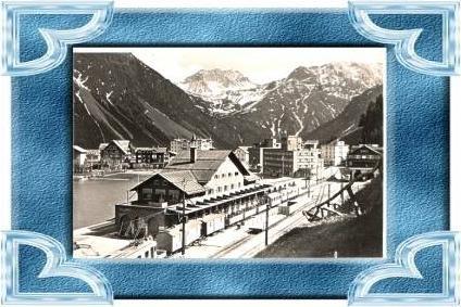 Arosa v.1940 Bahnhof mit Zug (11756)