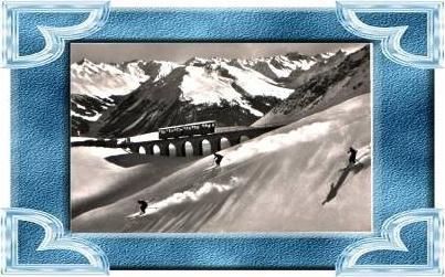 Parsennbahn.v.1939 Mit Ski Abfahrtläufer (12131)