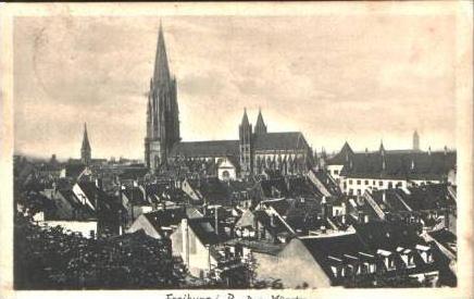 Freiburg v.1911 Teil-Stadt-Ansicht .(14440)