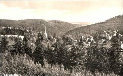 Schierke v.1961 Teil-Stadt-Ansicht (15761)