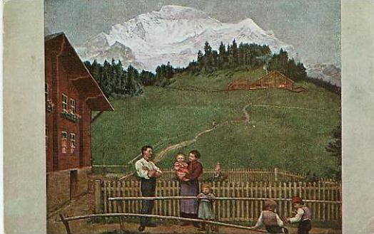Hans Thoma v.1917 Abend in der Schweiz (17652)