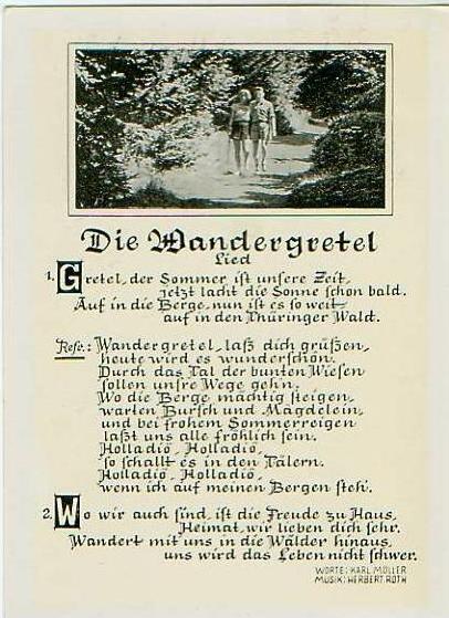 Die Wandergretel .Lied v.1968.(18090)