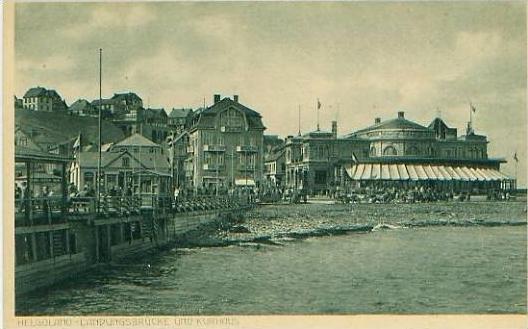 Helgoland v.1920 Landungsbrücke & Kurhaus (19194) 0
