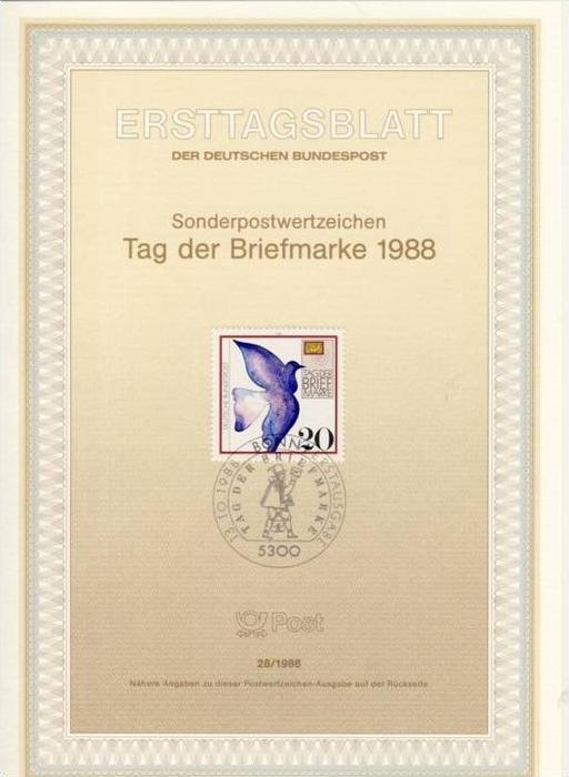 BRD - ETB (Ersttagsblatt) 28/1988 Miche 1388 - Tag der Briefmarke