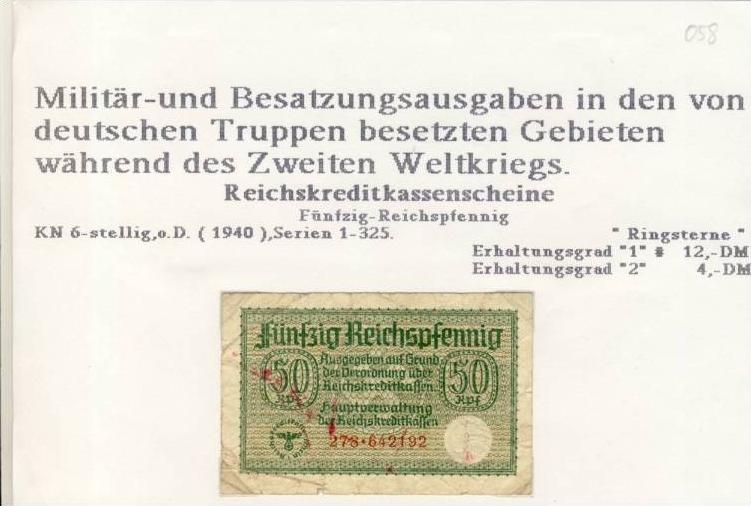 Millitär & Besatzungsausgabe v. 1940  siehe beschreibung !! (058)