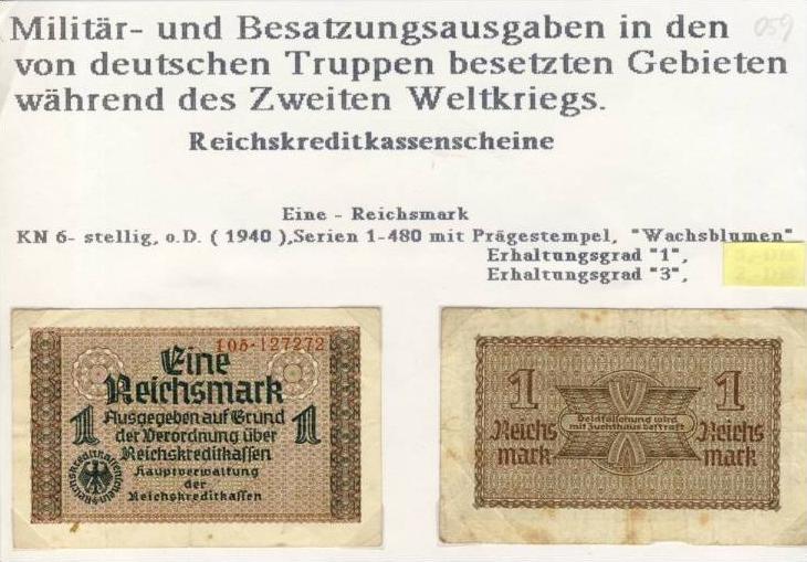 Millitär & Besatzungsausgabe v. 1940  siehe beschreibung !! (059)