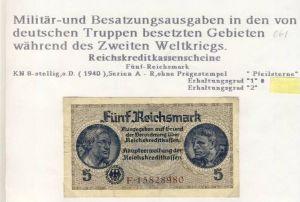 Millitär & Besatzungsausgabe v. 1940  siehe beschreibung !! (061)
