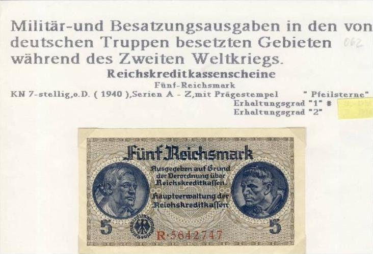 Millitär & Besatzungsausgabe v. 1940  siehe beschreibung !! (062)