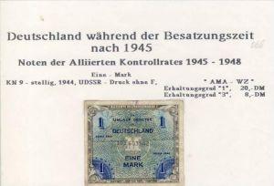 Besatzungszeit nach 1945 --- Noten der Alliierten Kontrollrates 1945-48   (068)