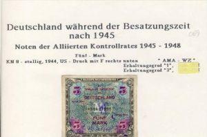 Besatzungszeit nach 1945 --- Noten der Alliierten Kontrollrates 1945-48   (069)
