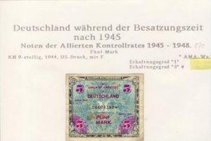 Besatzungszeit nach 1945 --- Noten der Alliierten Kontrollrates 1945-48   (070)