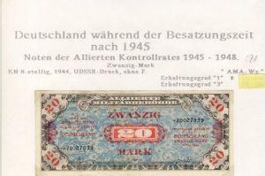 Besatzungszeit nach 1945 --- Noten der Alliierten Kontrollrates 1945-48   (071)