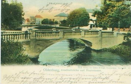 Oldenburg v.1901 Brücke und Huntestrasse (19681) 0