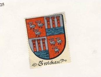 Städte Wappen - ZWICKAU ca. v. 1925  --- siehe beschr. !! (47)