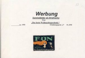 WERBUNGS-MARKE --- FÖN ca. v. 1955  --- siehe beschr. !! (53)