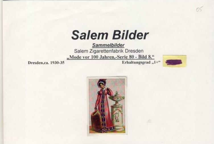 WERBUNGS-Sammelbild,SALEM   Zigarettenfabrik-Dresden  --- siehe beschr. !! (05)