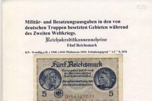 Millitär & Besatzungsausgaben -- ohne Datum -- Fünf Reichsmark -