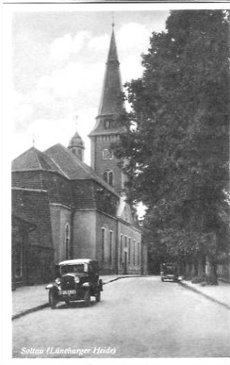 Soltau v.1934 Strasse & Kirche (20087) 0