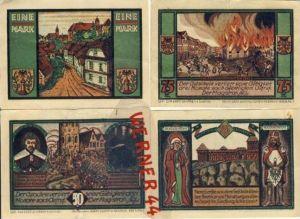 Städte Notgeldscheine - Banknoten während der Inflationszeit v. 1921 Nimptsch 25,50,75 Pfg.+1 Mark
