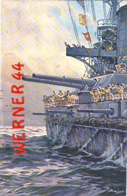 1. Weltkrieg v. 1916  Kriegskreuzer-Kanonen sind bereit  (33474)