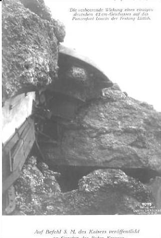 Lüttich v.1914 42cm Geschosses auf dem P. (22925)