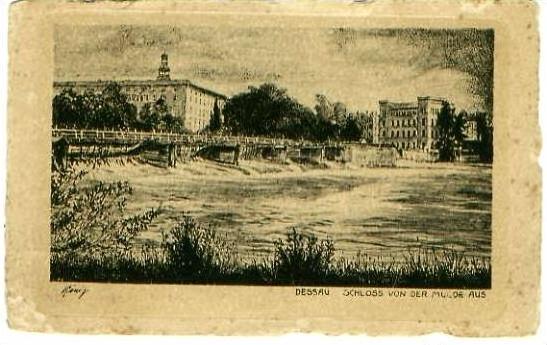 Dessau v.1925 Schloß & Mulde (22256)