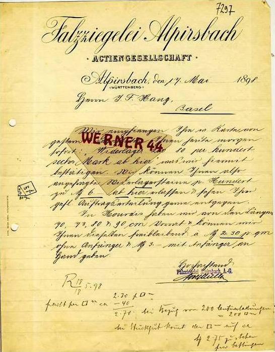 Alpirsbach v.1898 Falzziegelei Alpirsbach (34860)