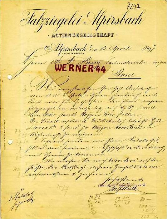 Alpirsbach v.1898 Falzziegelei Alpirsbach (34861)