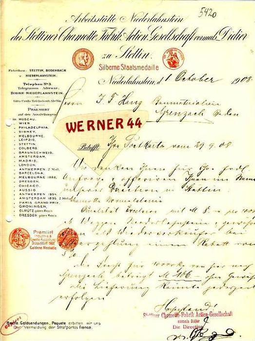 Niederlahnstein v.1908 Chamotte Fabrik (34899-3)
