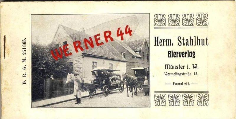 Münster v. 1906 Herm. Stahlhut Bierverlag --- siehe beschreibung !!  (23324-27)