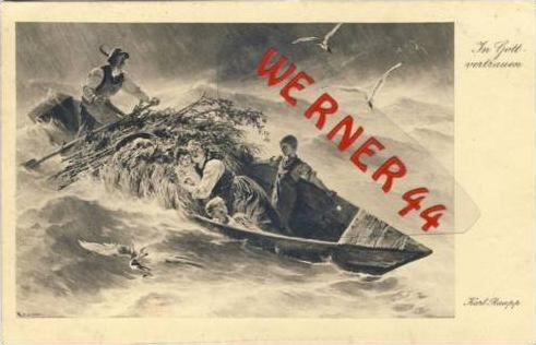 Schiff im Sturm v. 1918 In Gottvertrauen (23636)