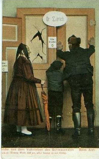 Schwarzwald v. 1909 Bilder aus dem Volksleben...Beim Arzt !!  (23962)