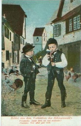 Schwarzwald v. 1909 Bilder aus dem Volksleben...Ist dir noch nicht schlecht !!  (23963)